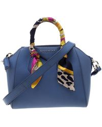 Givenchy Antigona Blue Leather Handbag