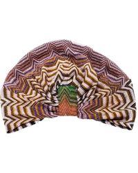 Missoni Mare Multicolour Zig Zag Pattern Lurex Knit Beach Turban