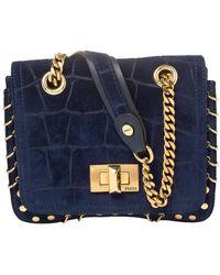 Emilio Pucci Royal Blue Suede Small Marquise Shoulder Bag