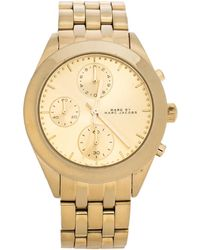 Marc By Marc Jacobs Gold Plated Stainless Steel Peeker Mbm3393 Women's Wristwatch 36 Mm - Metallic