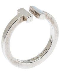 Tiffany & Co. Tiffany T Square Silver Open Ring Size 56 - Metallic