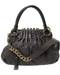 Marc Jacobs Grey Quilted Leather Cecilia Satchel