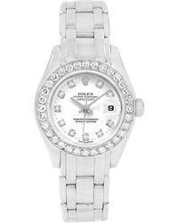 Rolex - 18k Gold Diamond Pearlmaster Masterpiece Women's Wristwatch 29mm - Lyst