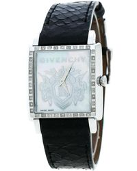 Givenchy Mother Of Pearl Stainless Steel Diamonds Gv5214l Wristwatch31mm Watch - Black
