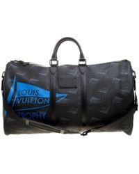 Louis Vuitton Coated Canvas Limited Edition 49/200 Dubai Trophy Keepall Bandouliere 55 Bag - Black
