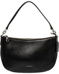COACH Black Leather Chelsea Hobo