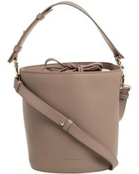 JW Anderson J.w. Anderson Beige Leather Bucket Bag - Natural