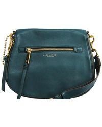 Marc Jacobs Blue Leather Nomad Shoulder Bag