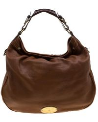 Mulberry Tan Pebbled Leather Mitzy Hobo - Brown