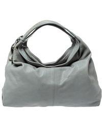 Furla Grey Leather Elisabeth Hobo