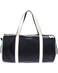 Burberry Black/green Nylon Kennedy Duffel Bag