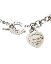 Tiffany & Co. Return To Tiffany Heart Tag Silver Toggle Necklace - Metallic