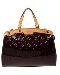 Louis Vuitton Amarante Monogram Vernis Brea Mm Bag - Multicolor