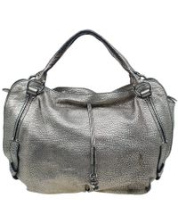 Céline Metallic Silver Leather Large Bittersweet Hobo