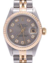 Rolex Black Diamonds 18k Yellow Gold And Stainless Steel Datejust 69173g Wristwatch 26 Mm