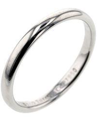 Tiffany & Co. Lucida Band Wedding Platinum Silver Ring Size 47 - Metallic