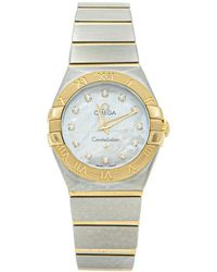 Omega Constellation White Gold And Steel Watch