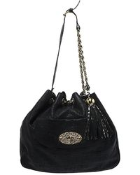 Mulberry Black Leather Front Pocket Hobo