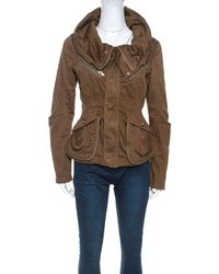 Marc By Marc Jacobs Brown Cotton Zip Front Jacket