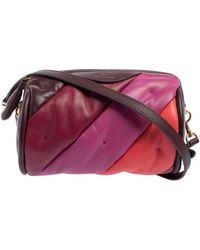 Anya Hindmarch Multicolor Chubby Barrel Leather Crossbody Bag - Purple