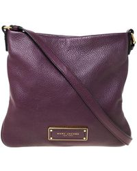 Marc By Marc Jacobs Purple Leather Crossbody Bag