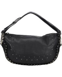 Dior - Black Calfskin Leather Peace And Love Shoulder Bag - Lyst
