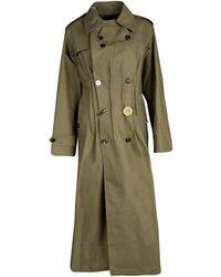 JOSEPH Khaki Twist Cotton Urb Double Breasted Trench Coat - Green