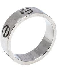 Cartier Love 18k White Gold Band Ring - Metallic