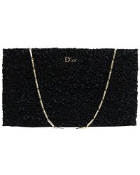 Dior Navy Blue Velvet Frame Evening Bag