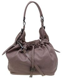 Burberry - Copper Rust Leather Drawstring Hobo - Lyst