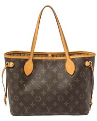 Louis Vuitton Monogram Canvas Neverfull Pm Bag - Brown