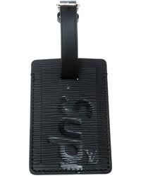 Louis Vuitton Black Epi Leather X Supreme Luggage Tag