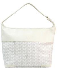Goyard White Chevron Coated Canvas/leather Grenadines Shoulder Bag