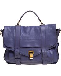 Proenza Schouler Purple Leather Large Ps1 Top Handle Bag