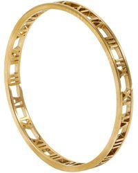 Tiffany & Co. 18k Rose Gold Atlas Bangle Bracelet Size 17 - Metallic