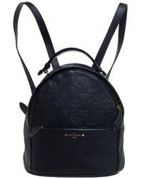 Louis Vuitton Black Empreinte Leather Sorbonne Backpack
