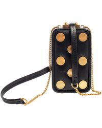 Marc By Marc Jacobs Black Leather Studded Phone Box Bag