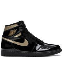 Nike Nike 1 High Black Metallic Gold Trainers