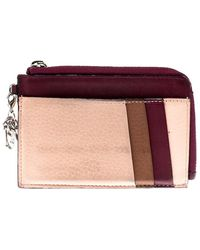 Dior Multicolour Leather Zipped Card Holder