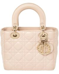 Dior Pink Leather Small My Lady Tote