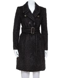 Gucci Black Mohair Belted Coat