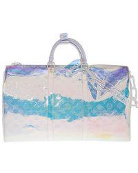 Louis Vuitton Monogram Prism Keepall Bandouliere 50 Bag - Metallic