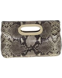 1b96e2af8bb99 MICHAEL Michael Kors - Python Embossed Leather Clutch - Lyst