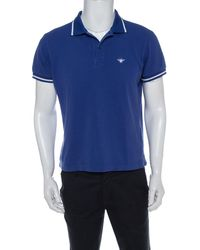 Dior Blue Cotton Pique Polo T Shirt