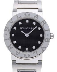 BVLGARI Black Diamonds Stainless Steel Bbl26s Quartz Wristwatch