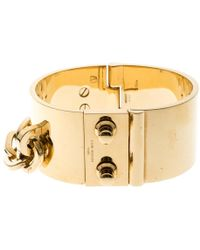 Louis Vuitton - Lock Me Manchette Tone Wide Cuff Bracelet - Lyst
