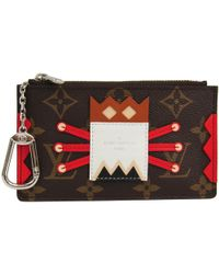 Louis Vuitton Monogram Canvas Mask Key Pouch - Red