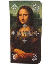 Louis Vuitton - Coated Canvas Da Vinci Iphone 7 Plus Folio - Lyst