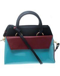 Diane von Furstenberg Multicolour Leather Small Front Flap Satchel
