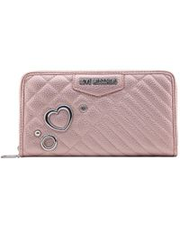 Moschino - Love Quilted Leather Zip Around Wallet - Lyst